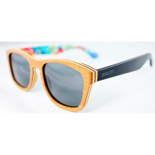 Gafas de sol de madera lentes polarizados negros
