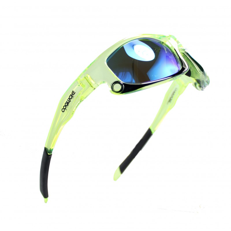 Green Fluo Sport Sunglasses - Polarized Lenses