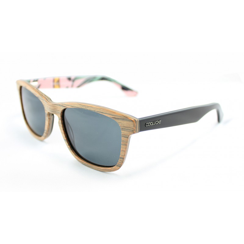 RIO Cuban sunglasses wood front face