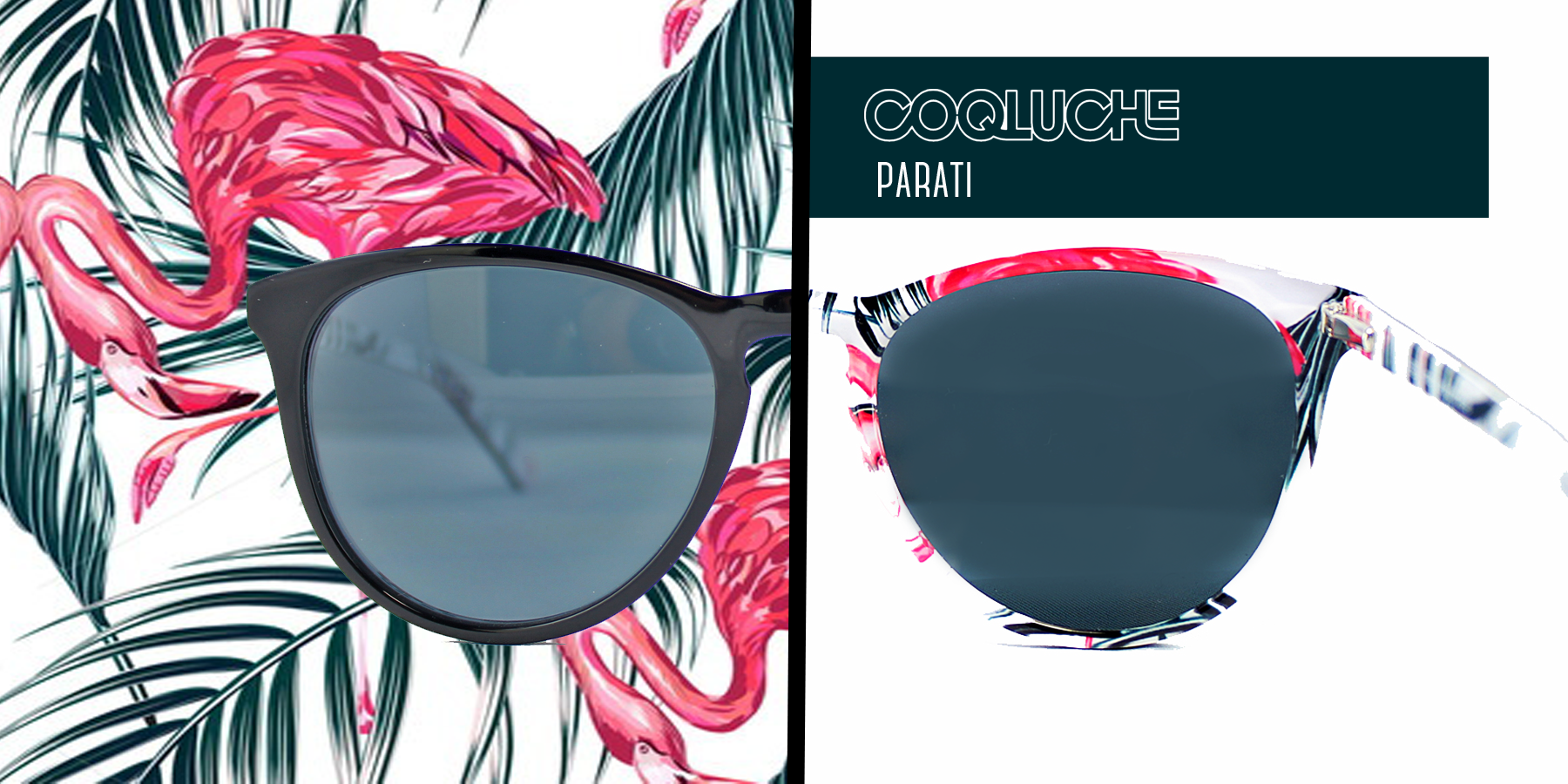 Eyewear Parati with flamingo print